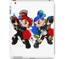 Inking Boy vs Octoling Boy Splat iPad Case/Skin