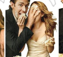 Jim and pam wedding  Sticker