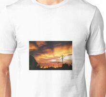 Firey Sunset Streetscape Unisex T-Shirt