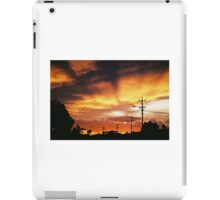 Firey Sunset Streetscape iPad Case/Skin