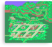 Onett the First Town in Earthbound Canvas Print