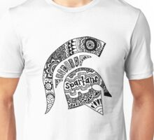 Michigan State Spartan Helmet Zentangle Unisex T-Shirt