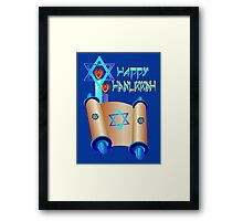 Happy Hanukkah-Torah Framed Print