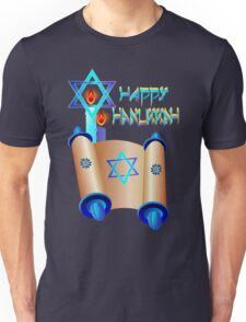 Happy Hanukkah-Torah Unisex T-Shirt