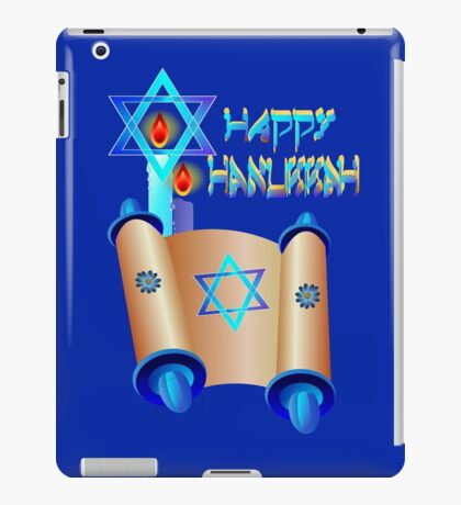 Happy Hanukkah-Torah iPad Case/Skin
