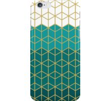 Teal Geometric Design iPhone Case/Skin