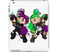 Inking Boy vs Octoling Boy V2 Splat iPad Case/Skin