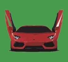 Lamborghini Aventador Cartoon Baby Tee