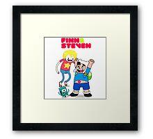 Adventure TIme Finn and Steven Universe Framed Print