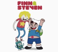 Adventure TIme Finn and Steven Universe One Piece - Short Sleeve