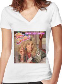 Robin Sparkles Women's Fitted V-Neck T-Shirt