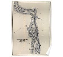 Civil War Maps 1166 Mississippi River from Cairo Ill to St Marys Mo in VI sheets 06 Poster