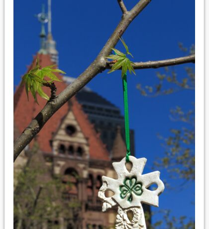 Hope blooms in Copley Square Sticker