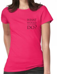what would leslie knope do? Womens Fitted T-Shirt