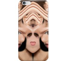 She Listens Intently  iPhone Case/Skin