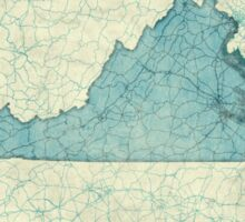 Virginia Map Blue Vintage Sticker