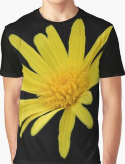 Yellow Daisy Flower Isolated Graphic T-Shirt