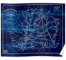 Civil War Maps 0545 Kershaw District South Carolina Inverted Poster