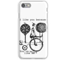 An amusing kind of man iPhone Case/Skin