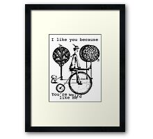 An amusing kind of man Framed Print