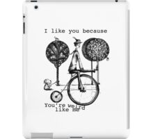 An amusing kind of man iPad Case/Skin