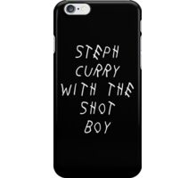 Curry Drake Shot (White) iPhone Case/Skin