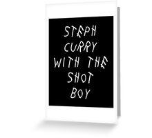 Curry Drake Shot (White) Greeting Card