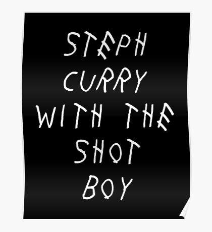 Curry Drake Shot (White) Poster
