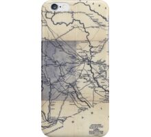Civil War Maps 0339 Darlington District South Carolina improved for Mills' Atlas 1820 enga by H S Tanner assistants iPhone Case/Skin