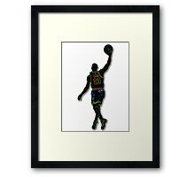 Electric LeBron Framed Print