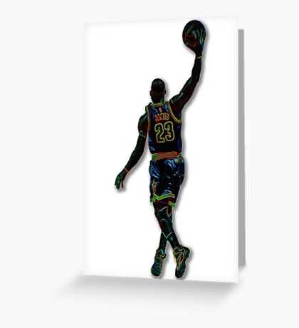 Electric LeBron Greeting Card