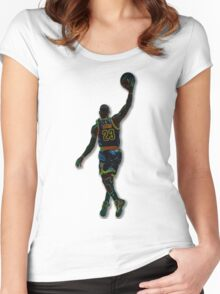 Electric LeBron Women's Fitted Scoop T-Shirt
