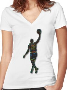 Electric LeBron Women's Fitted V-Neck T-Shirt