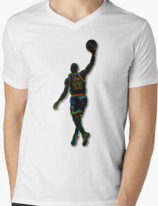 Electric LeBron Mens V-Neck T-Shirt