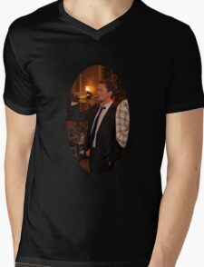 barney getting wasted  Mens V-Neck T-Shirt