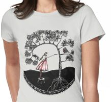 Bird feeder Womens Fitted T-Shirt