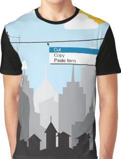 Cut Copy Paste Graphic T-Shirt