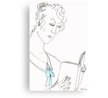Reading woman Canvas Print