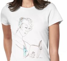 Reading woman Womens Fitted T-Shirt