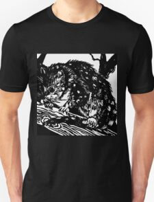 Australian Endangered Spotted-tail Quoll Lino Print Unisex T-Shirt