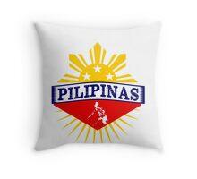 Pilipinas Design - Proud Pinoy Prints Throw Pillow