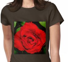 Star-shaped rose Womens Fitted T-Shirt
