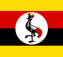 Ugandan Flag Sticker