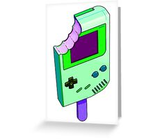 Alien Brain Goo Gameboy Greeting Card