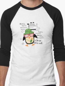 penguin-traveler!) Men's Baseball ¾ T-Shirt