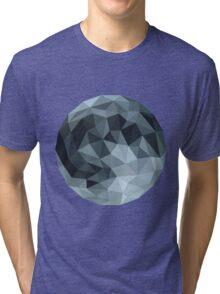 Low Poly Full Moon Tri-blend T-Shirt