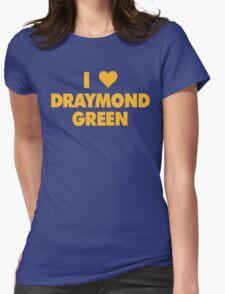 I LOVE DRAYMOND GREEN Golden State Warriors heart Womens Fitted T-Shirt