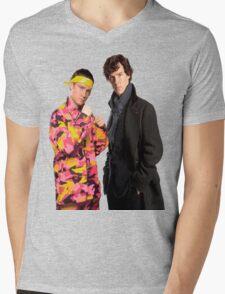 Sherlock Holmes|Ali G Mens V-Neck T-Shirt