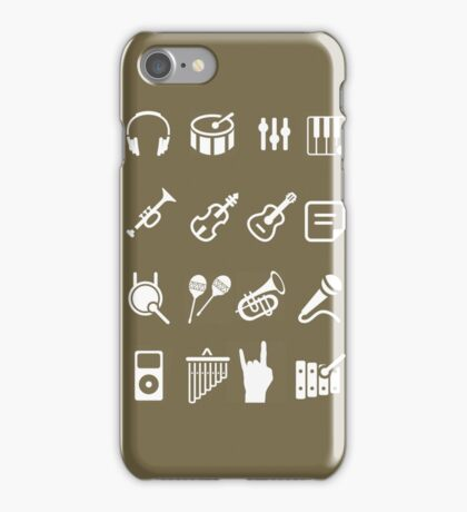 musical instruments icon iPhone Case/Skin