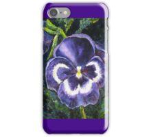 The Giant Purple Pansy Acrylic Painting iPhone Case/Skin